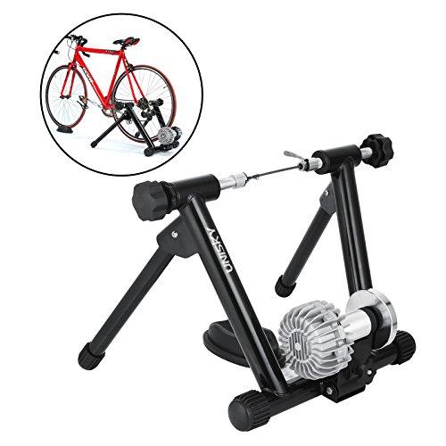 Anhon 150 kg Roller Für Fahrrad Für Home Training Schwarz Roller Training Elastomer Rollen Fahrrad MTB Roller Turbo Trainer Magnetisch Für Fahrrad Mit Speed Controller (150KG) -