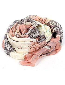 Bufanda - SODIAL(R)Elegante Bufanda de algodon de impresion larga de mujer Manton de senora Panuelos de seda grandes