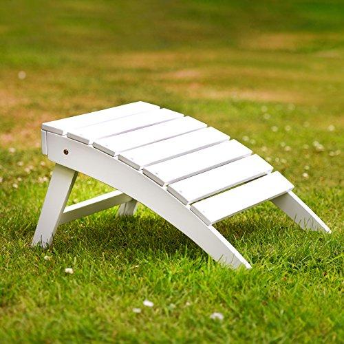 Plant Theatre Adirondack Hartholz Fußhocker weiß lackiert-Hervorragende Qualität - Adirondack Liegestuhl