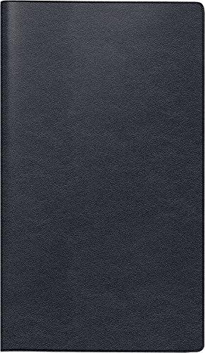 Brunnen 107535790 Taschenkalender/Monats-Sichtkalender Modell 753, 2 Seiten = 1 Monat, 87 x 153 mm, Leder-Einband schwarz, Kalendarium  2019