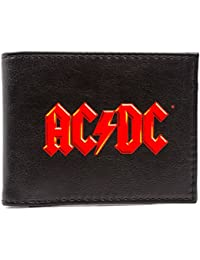Cartera de AC/DC Music Rock Band logotipo rojo Negro