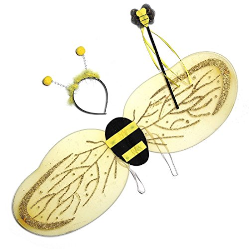 Generic O-1-O-3033-O Stirnband mit Blumen- und Fluss-Flügelantenne, für Kinder, Halloween, Ele, Flügel, Zauberstab, oween B Hummeln, NV_1001003033-NHUK17_641