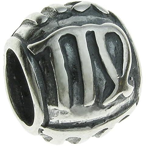 Queenberry in argento Sterling 925 segno zodiacale, Vergine con Charm per Pandora, Chamilia, Troll Biagi e altri bracciali simili di europea - Live Love Laugh Bracciale