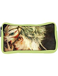 Snoogg Eco Friendly Canvas Firey Eyed Woman Behind The Mask Designer Student Pen Pencil Case Coin Purse Pouch...