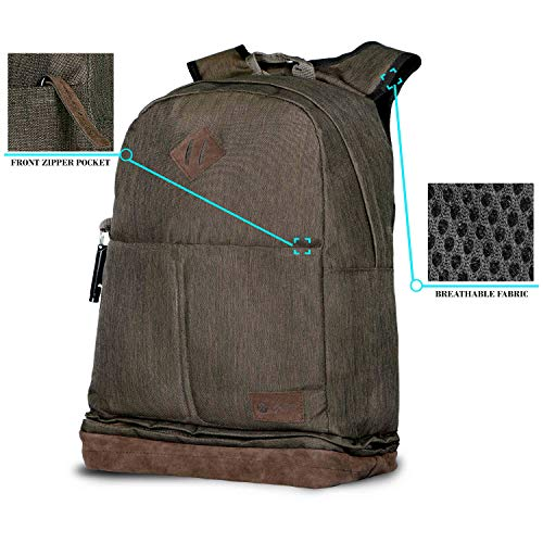 Optima Californication Series Travel Laptop Backpack, Business Slim Durable Laptops Backpack,Water Resistant College School Computer Bag for Women & Men Fits 15.6 Inch Laptop and Notebook Image 7