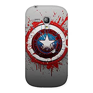 Gorgeous Premier Blood Round Multicolor Back Case Cover for Galaxy S3 Mini