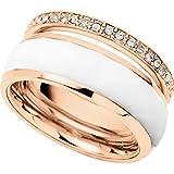 Fossil Damen-Ring Edelstahl Acryl Zirkonia weiß JF01123791