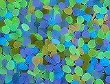 Piedras decorativas para acuario que brillan en la oscuridad, 20 unidades.