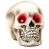 Widmann 9535 Halloween Schädel mit Leuchtenden Augen, Mehrfarbig