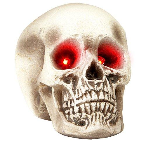 Widmann 9535 Halloween Schädel mit Leuchtenden Augen, -