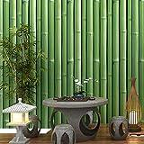 HONGYUANZHANG Chinesische Art 3D Stereo Bambus Klassische Tapete Wohnzimmer Tee Haus Esszimmer Wand Papier Für Wände 3D Decor,350cm (H) X 430cm (W)