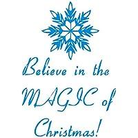 YYH Confezione da 5 pezzi Natale inglese benedizioni decalcomanie del fiocco di neve Home camera da letto decorazione della parete adesivi