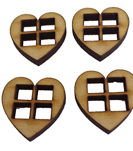 miniature-heart-windows-set-of-4-fairy-elf-hobbit-dooraccessory-dolls-house