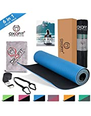 OxOFit All Purpose Yoga Mat for Men & Women Anti-Tear Sustainable TPE Material|for Yoga, Meditation, Pilates & Floor Exercises|6ft x 2ft x 6mm Thick Mat