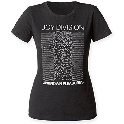 Joy Division-Maglietta da donna sconosciuto Pleasures nero Medium