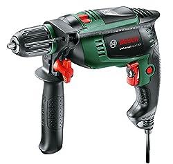 Bosch Schlagbohrmaschine UniversalImpact 800 (800 Watt, Zusatzhandgriff, Tiefenanschlag, Koffer) schwarz/ grün