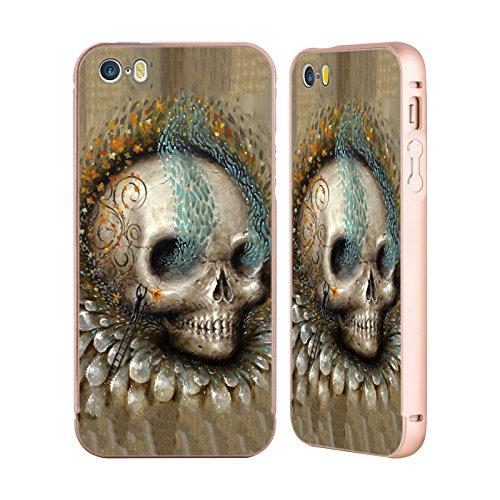 Ufficiale Jason Limon Luce Primodriale Teschio Oro Cover Contorno con Bumper in Alluminio per Apple iPhone 5 / 5s / SE Bocciolo Di Sole