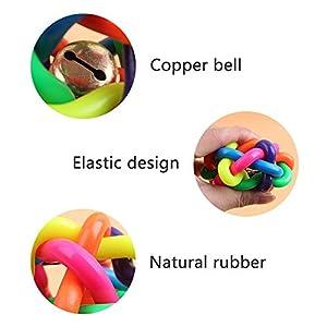 Keysui Coloré jouet balle de caoutchouc animal balle jouet taille: S