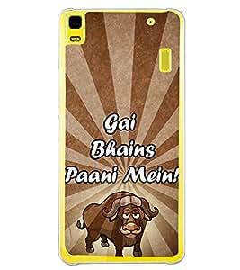Gai Bhains Paani Mein 2D Hard Polycarbonate Designer Back Case Cover for Lenovo K3 Note :: Lenovo A7000 Turbo