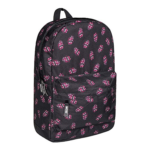 RockSax X The Rolling Stones All Over Tongue Rucksack (Black) Rolling Stones All Over Union Jack