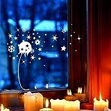 Fensterbild Pusteblume & Schneeflocken Fensterdeko L 20x39cm Fensterbilder Winterlandschaft + Sterne & Schneekristalle M2272 ilka parey wandtattoo-welt®