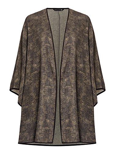 viz-a-viz Kimono Style Cape Gr. 42, Olive/Black
