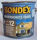 Bondex Dauerschutzfarbe, Hellocker 345 / 2,5 Liter