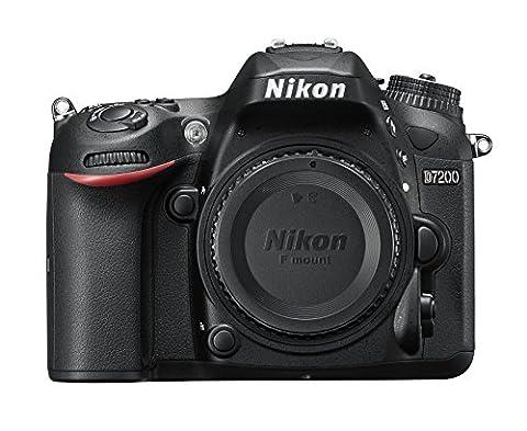 Nikon D7200 SLR-Digitalkamera (24 Megapixel, 8 cm (3,2 Zoll) LCD-Display, Wi-Fi, NFC, Full-HD-Video) nur Kameragehäuse