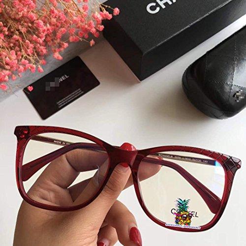 day spring online shop Black Tweed Brille Glasses Eyeglasses Frames Clear Lens 3379-red