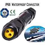 1en 3A 5pin IP68impermeable Cable eléctrico Conector de cable 4m de profundidad agua