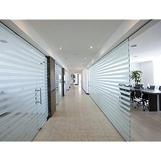 5 Stück Milchglasstreifen 50cm Länge / 150mm Breite je Streifen , zum Sichtschutz für Bad , Büro , Glas Fenster, Scheiben