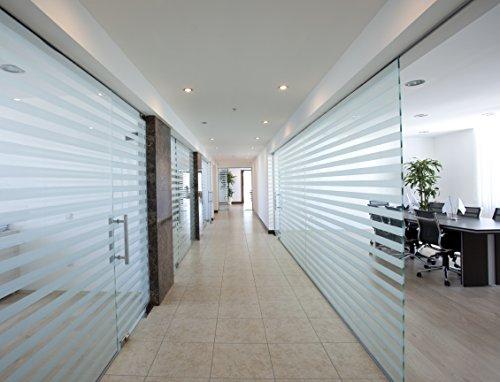 5 Stück Milchglasstreifen 50cm Länge / 150mm Breite je Streifen , zum Sichtschutz für Bad , Büro , Glas Fenster, Scheiben -