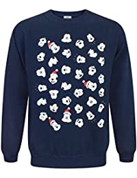 Disney Mickey Mouse Faces Christmas Sweatshirt