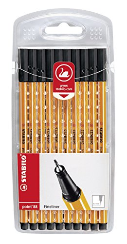 Fineliner - STABILO point 88 - 10er Set schwarz