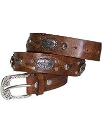 Fronhofer Superbe ceinture pour femme, ceinture cloutée bohême de style  ethnique avec clous et empiècements, ceinture en cuir pour femme,… e8d0d9bfe48