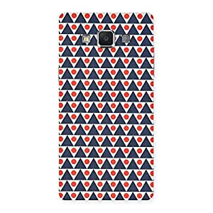 Stylish Inverted Triangle Print Back Case Cover for Samsung Galaxy A5
