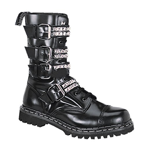 Demonia Gravel-10S - scarpe gotiche punk Industrial ranger stivali 36-46, US-Herren:EU-38 (US-M6)