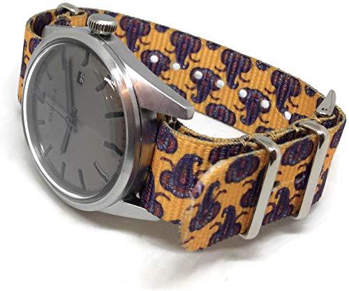 NATO Zulu G10 - Correa de reloj de 20 mm, con estampado...