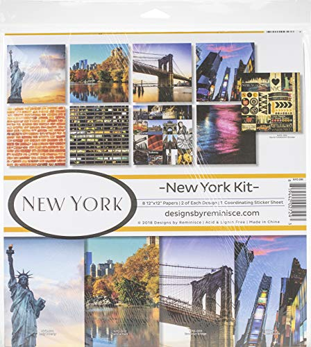Reminisce REMBC NYO-200 New York Scrapbook Collection Kit mehrfarbig