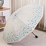 Unbekannt &Regenschirm Falten Sonnenschirme UV Schutz Vinyl Falten Männer und Frauen Große Regen Regenschirm (Farbe : A)
