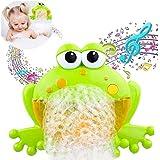 Lomire Máquina de Burbujas de Baño para para Bebés ,Juguetes de Baño de Rana de Máquina de Burbuja con 12 Nursery Música Automático Canalón Bañera de Burbujas para Niños Ducha (Rana)