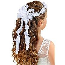 Mädchen-Accessoires Kommunionkleid Kommunion Kleidung & Accessoires Kopfschmuck Haarkranz Kranz Krone Bänder Haarschmuck z