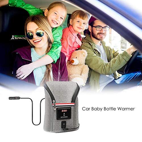 belukies Flaschenwärmer Baby Unterwegs Babykostwärmer Mit Warmhaltefunktion LED-Display Für Babyflaschen Schnell Doppel Flaschen Heizung - Kapazität:2 Flasches