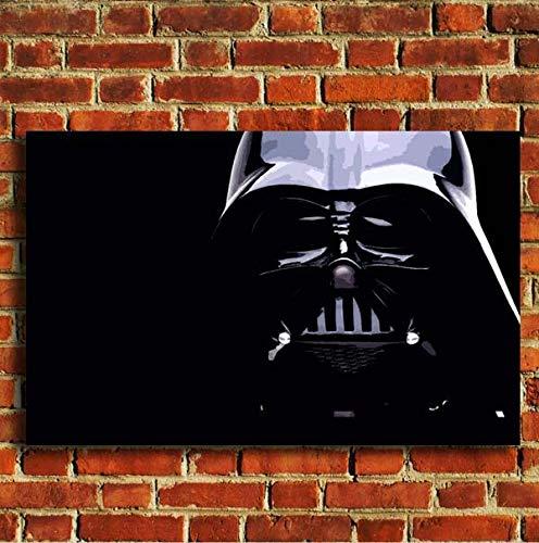 boxprints Obra de arte de Darth Vader Obra de arte de la pared de Star Wars Lámina pequeña grande