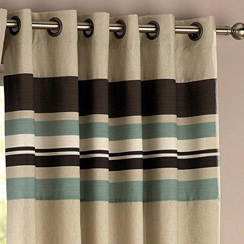Curtina J Rosenthal & Son Ltd Harvard Duckegg Eyelet Lined Curtain 90×90
