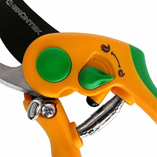 GRNTEK-Scateur-FLAMANT-ROSE-avec-lame-enduite-entflon-cisailles-ciseaux-de-jardinage-avec-poignes-ergonomiques–conomie-dnergie-et-antidrapantes-bypass