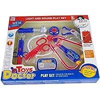 Preisvergleich für Doktorset Spielset Arztset Puppen Doktor 35x30x5cm Arzt Licht Sound Stethoskop