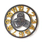 Womdee Reloj de Pared Decoración Reloj de Pared Relojes de Pared Redondos, Estilo Industrial Reloj de Pared Decorativo de fácil Lectura Reloj de Pared Decorativo