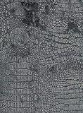 StoffConcept MÖBELSTOFF Diva Croco 33 Objektstoff Microfaser Samt Krokodil Reptilienlook Bezug Muster