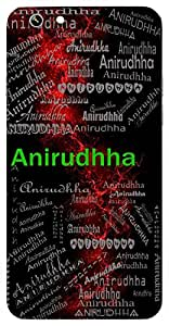 Anirudhha (Independent, Unstoppable) Name & Sign Printed All over customize & Personalized!! Protective back cover for your Smart Phone : Motorola Moto Z - PLAY